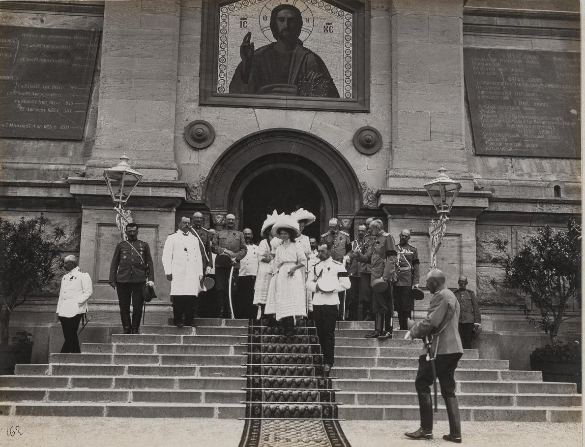 1913. Посещение Императорской фамилией храма святителя Николая на Братском кладбище в Севастополе