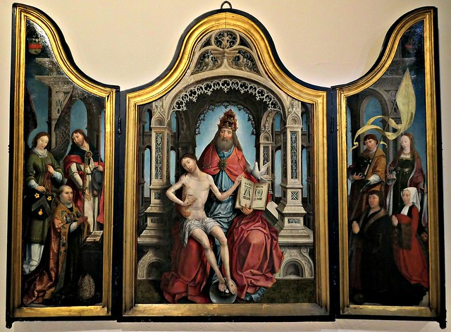 Lille - Museum of Fine Arts - Jean BELLEGAMBE - 1520 circa - Triptych of the Trinity of Marchiennes