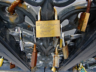 photo - Love Locks on Biržai Bridge, Klaipeda