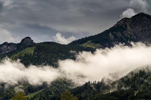 berg farbe himmel landscape landschaft mountain wolke menschenleer pfronten bayern deutschland