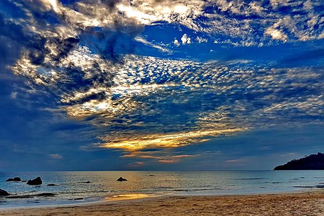 Tuesday clouds, calm evening