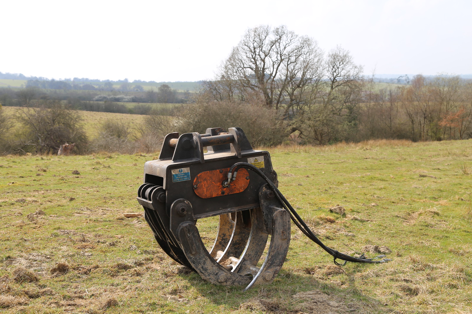 Machinery in the landscape near Eridge