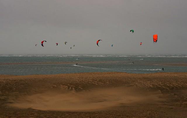 El viento en Huelva. Playa Canela.
