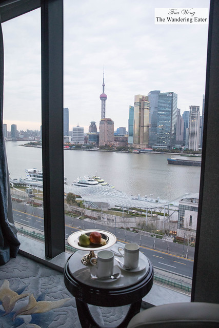 Morning view of The Bund from my room