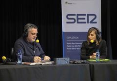 Rosabel Argote, responsable de CEAR en Vitoria-Gasteiz, habla con Juanma Cano.