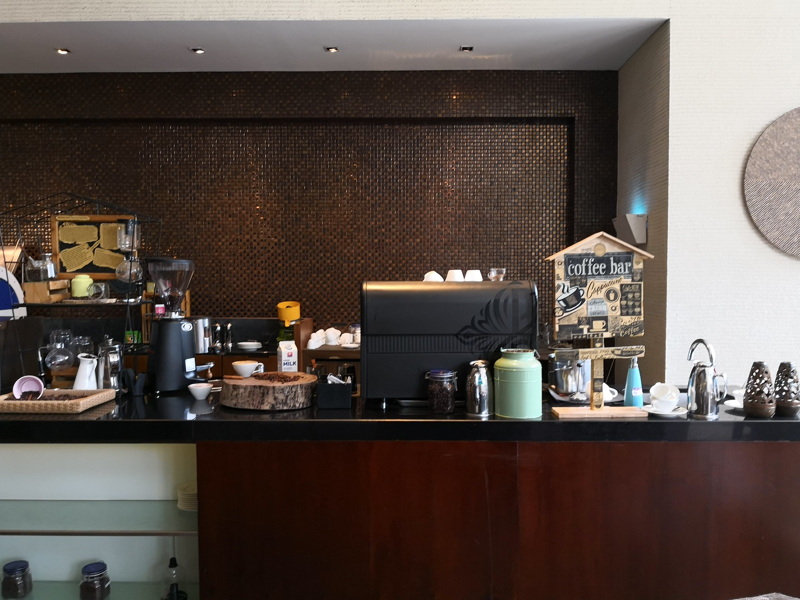 Cafe setup in the restaurant