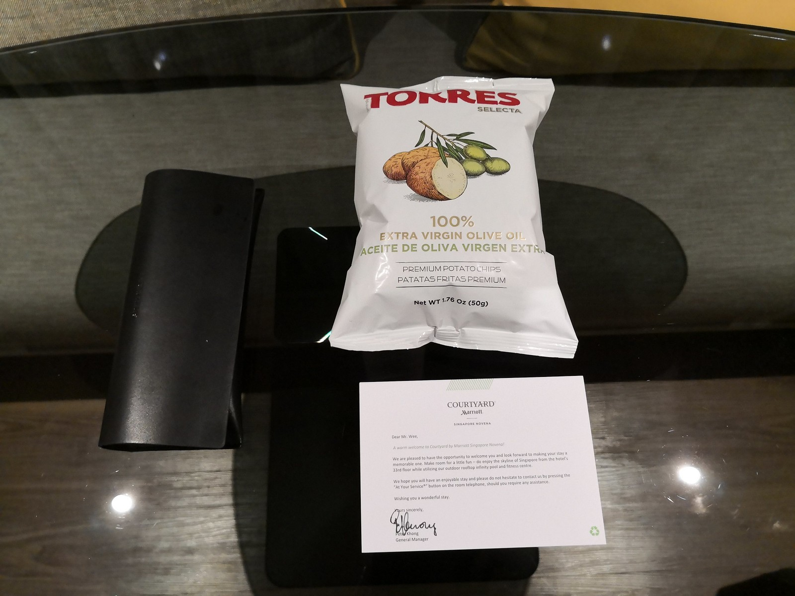 Torres chips welcome amenity