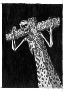 moldy festering scarecrow pencil drawing | by ashley russell 676