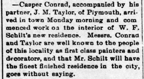 1896 - interior work on Schilt house - Enquirer - 16 Oct 1896 | by historic.bremen