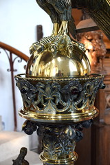 lectern: art nouveau crowned orb and eagle's feet