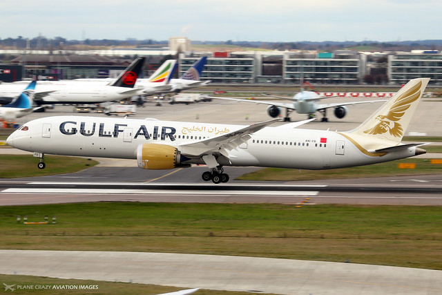 A9C-FD  -  Boeing 787-9 Dreamliner  -  Gulf Air  -  LHR/EGLL 11-2-19