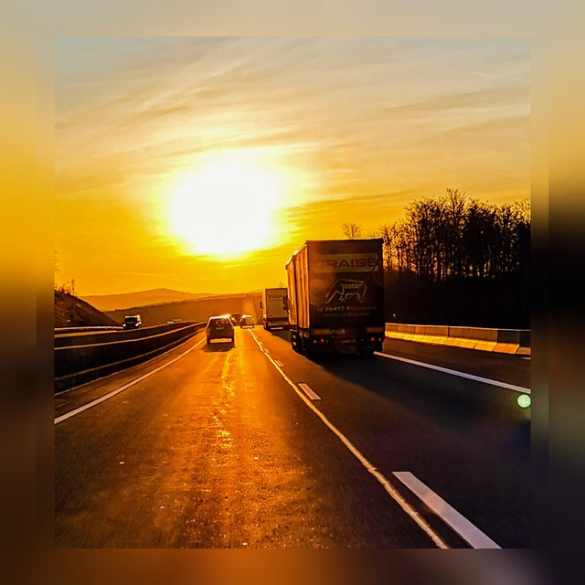 Sunset on the highway 🌇