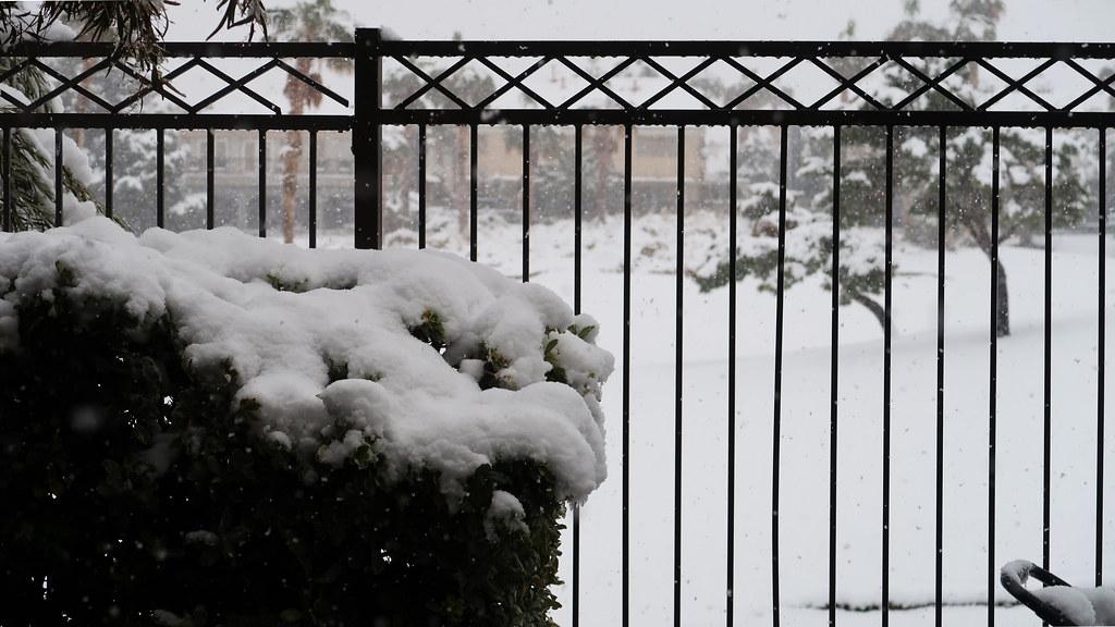 Snow in Rhodes Ranch, Las Vegas, NV
