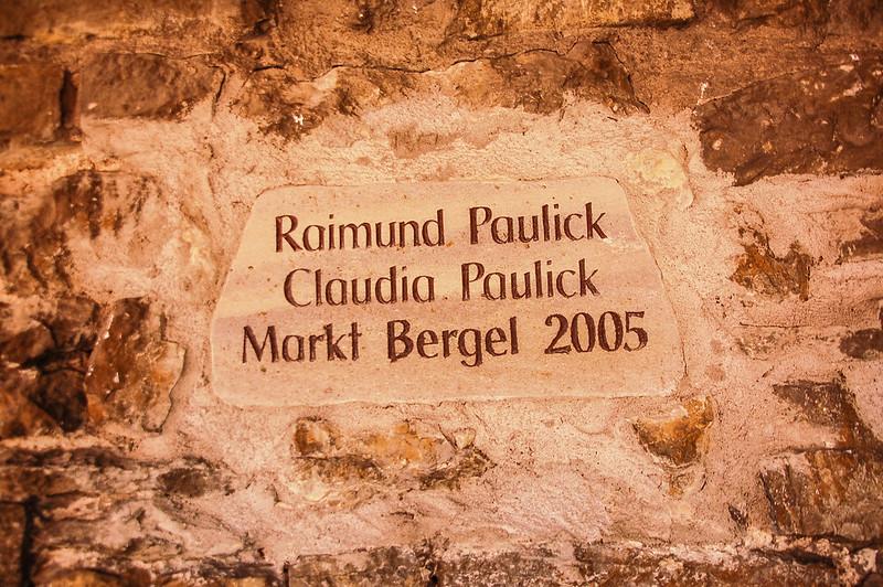 羅騰堡城牆上捐助人嵌石