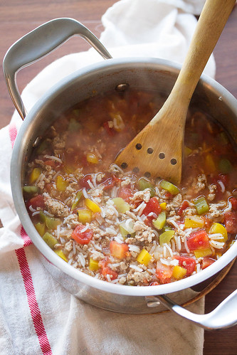 Turkey Stuffed Pepper Soup | by Isabelle @ Crumb