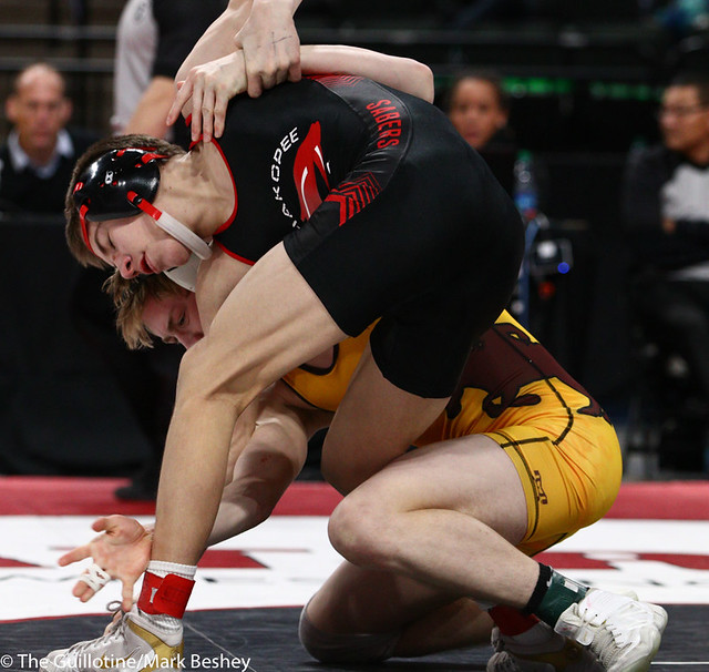 120AAA 1st Place Match - Derrick Cardinal (Forest Lake) 46-3 won by decision over Ben Lunn (Shakopee) 43-4 (Dec 9-4) - 190302bmk0119