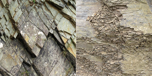 Shale rock collage from Ireland