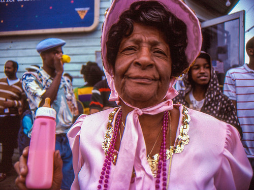 "Alma Borden--""Mama Goo"" on Mardi Gras Day, 1992"