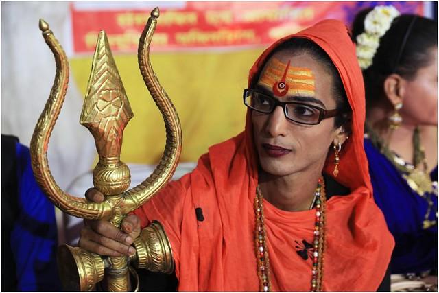 India Travel Photography: Kinnar Akhara (transgender Saints) at Kumbh Mela Festival 2019 Allahabad.063 by Hans Hendriksen