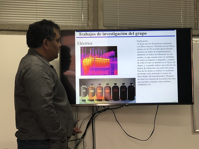 Visita profesor de la Universidad de Guanajuato