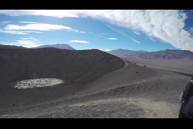 0540 GoPro panorama video of Little Hebe Crater and Ubehebe Crater
