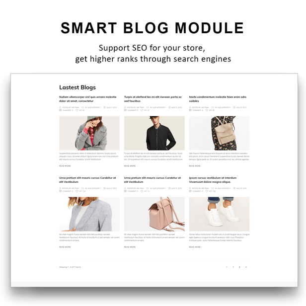 Gucci - shoes Fashion PrestaShop Theme - Smart Blog module
