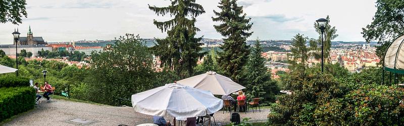 Restaurant Nebozizek 俯瞰布拉格市區