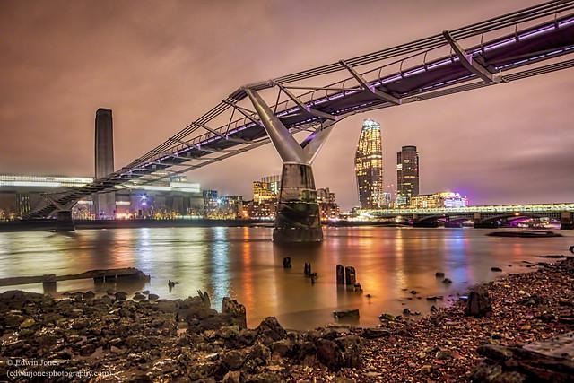 Millennium Bridge View To The South Bank