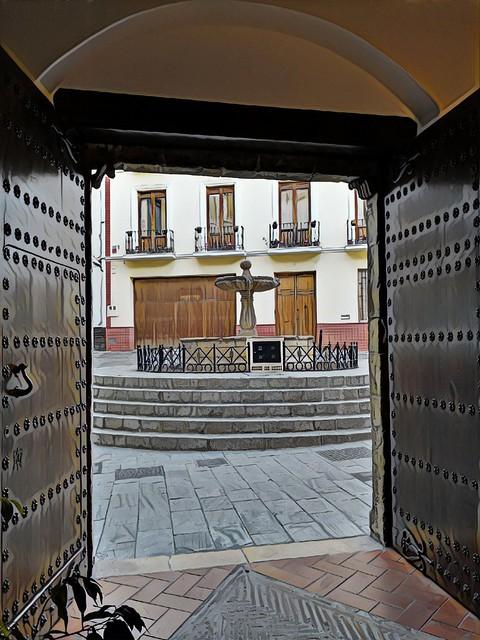 puerta y fuente