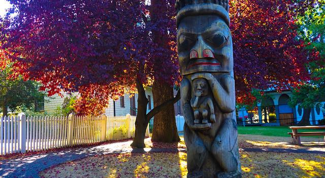Totem Pole in Autumn