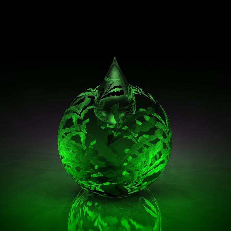 Обои шар, узоры, форма, зеленый картинки на рабочий стол, фото скачать бесплатно