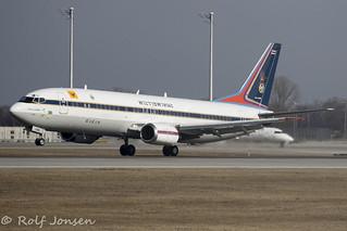 HS-CMV Boeing 737-400 Royal Thai Airforce Munich airport EDDM 19.02-19 | by rjonsen