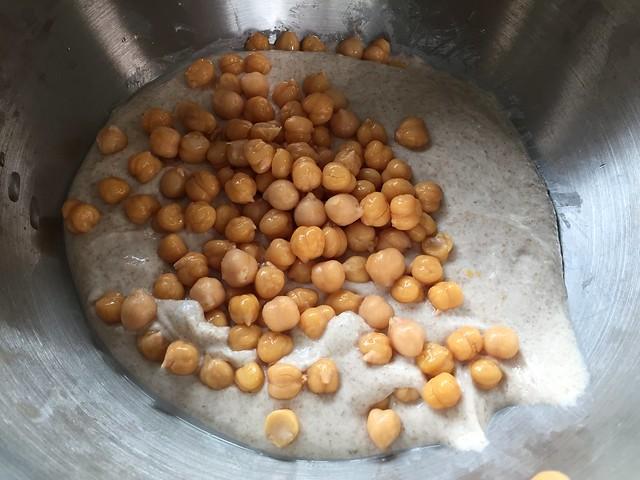 Mixing Chickpeas