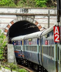 Tamilnadu Exp entering into 1966 made tunnel !