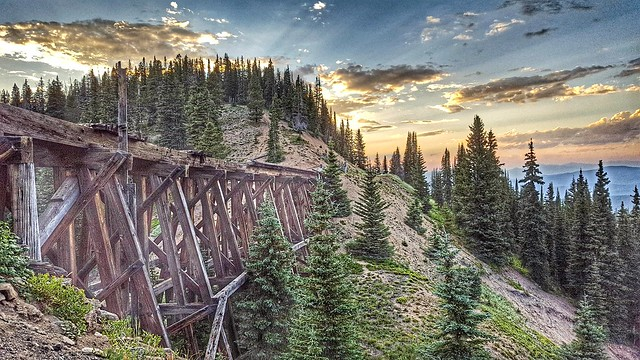 Riflesight Notch Train Trestle outside of Winter Park, Colorado