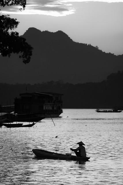 Last light on the Mekong