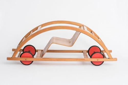 "Schaukelwagen (""Rocking Car""), design: Hans Brockhage, manufacturer: Siegfried Lenz, Berggießhübel bei Pirna, 1950"