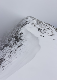 Scar Crags, North Western Fells, Lake District National Park, Cumbria, UK, in snow