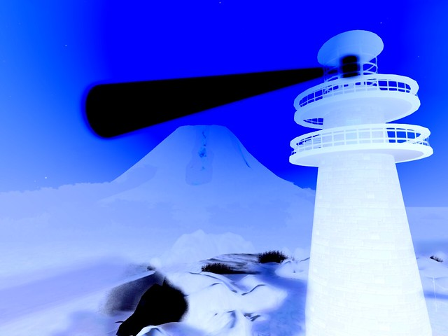 Negative Light In Blue On Black
