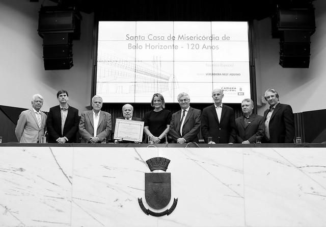 Reunião Especial em homenagem aos 120 Anos de relevantes serviços prestados à população pela Santa Casa de Misericórdia de Belo Horizonte - Autoria: vereadora Nely Aquino