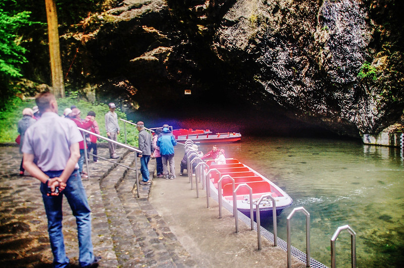 Punkva cave 地底河遊船終點 1