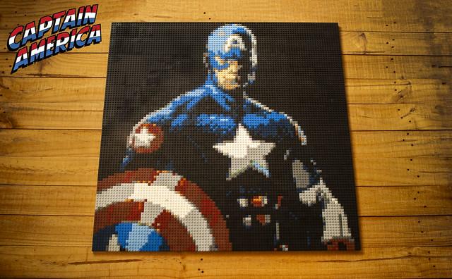LEGO Captain America Mosaic