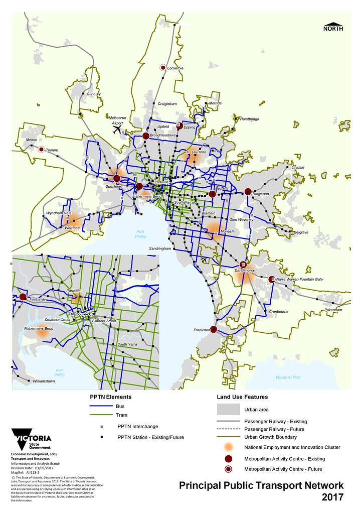 Melbourne Principal Public Transport Network (May 2017)