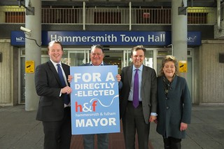 Greg launching the campaign to create a directly-elected H&F mayor | by Greg Hands
