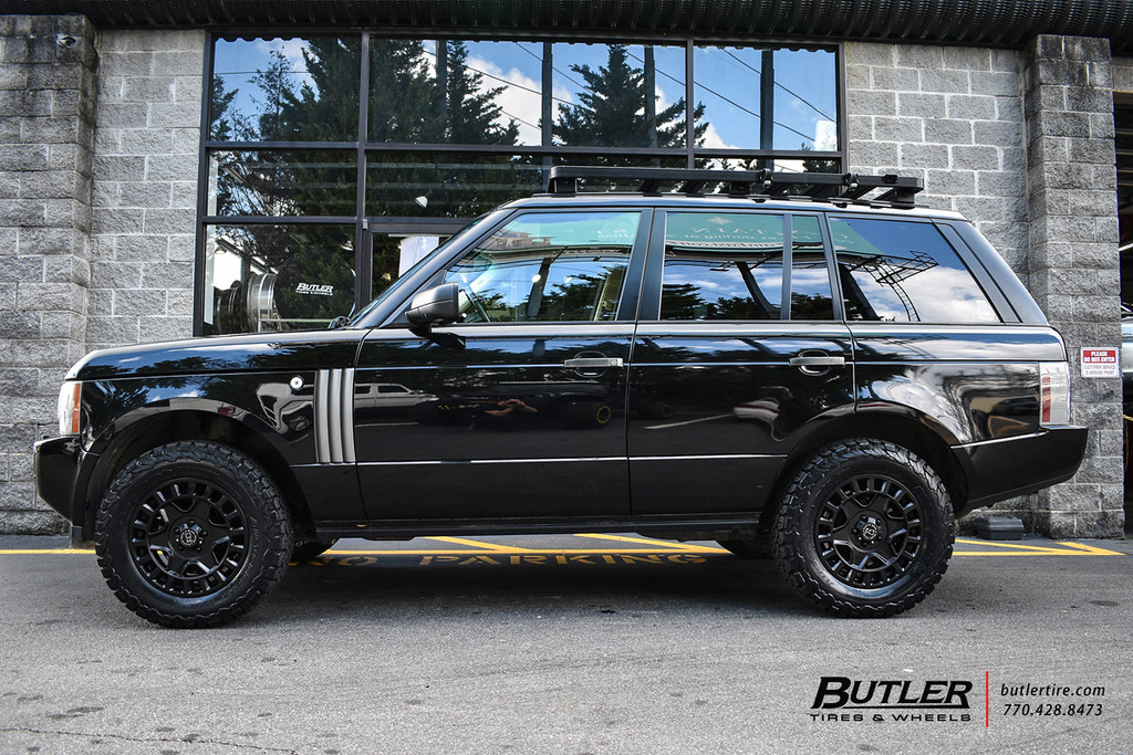 Range Rover Lifted >> Lifted Range Rover With 18in Black Rhino York Wheels And B Flickr