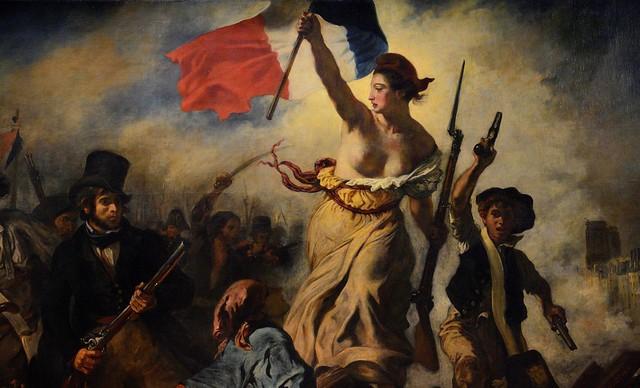 Delacroix / La Liberté Guidant le Peuple / 1830 - 1/8