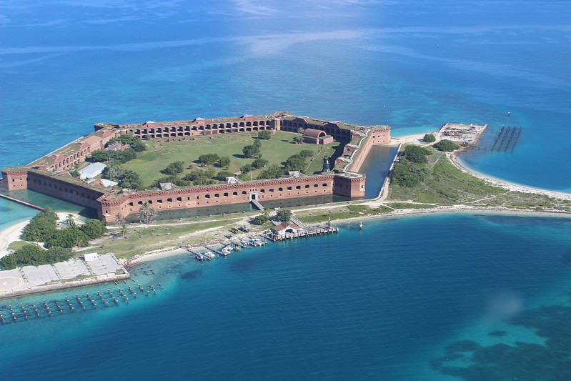 aerial view of Dry Tortugas National Park