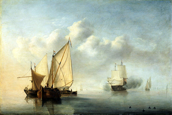 Willem van de Velde d. J./the Younger, Stille See - Quiet Sea