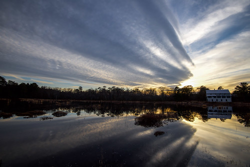 one building reflection sunset clouds sky doubletrouble doubletroublestatepark