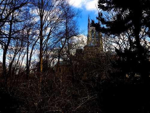church churches architecture landscape trees sky haunted outdoors outdoor building buildings spooky